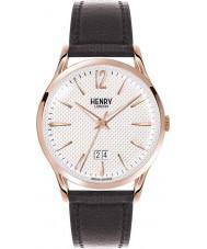 Henry London HL41-JS-0038 Mens Richmond Black Leather Strap Watch