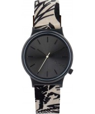 Komono KOM-W1838 Wizard Print Series Black Palms Watch