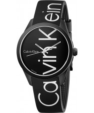 Calvin Klein K5E51TBZ Color Black Silicone Strap Watch