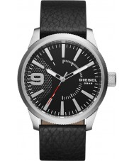 Diesel DZ1766 Mens RASP Black Leather Strap Watch