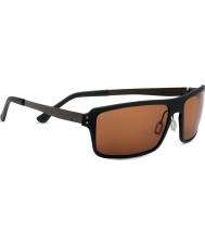 Serengeti Duccio Satin Black Polarized PhD Drivers Sunglasses