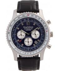 Krug Baümen 600508DS Mens Air Traveller Diamond Watch
