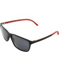 Polo Ralph Lauren PH4092 58 Matte Black 550481 Polarized Sunglasses