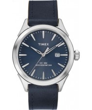 Timex TW2P77400 Mens Elevated Classic Blue Leather Strap Watch