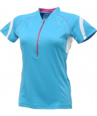 Dare2b DWT078-3FN12L Ladies Refreshed Blue Jersey T-Shirt - Size S (12)