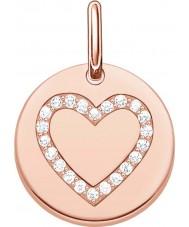 Thomas Sabo LBPE0005-416-14 Ladies Love Bridge 18ct Rose Gold Plated Pendant