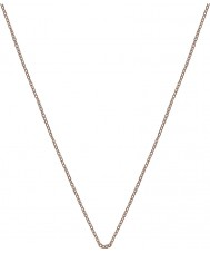 "Emozioni CH022 16-18"" Rose Gold Silver Plated Trace Chain"