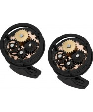Thomas Earnshaw ES-002-C3 Mens Gear Black Steel Cufflinks