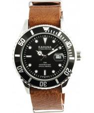 Kahuna KUS-0110G Mens Brown Leather Strap Watch