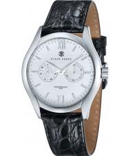 Klaus Kobec KK-20003-01 Mens Aether Black Leather Strap Watch