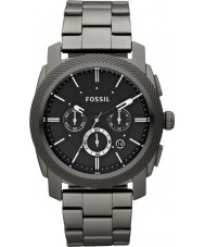 Fossil FS4662 Mens Machine Black Steel Bracelet Chronograph Watch