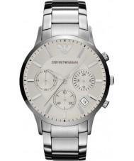 Emporio Armani AR2458 Mens Classic Chronograph Silver Watch