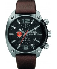 Diesel DZ4204 Mens Overflow Black Brown Chronograph Watch