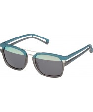 Police Mens Neymar JR 1 S1948-NV8H Transparent Grey Matt Turquoise Sunglasses