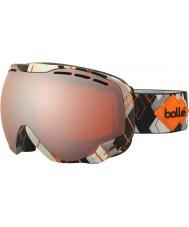 Bolle 21308 Emperor Grey and Orange Argyle - Citrus Gun Ski Goggles