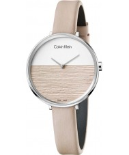 Calvin Klein K7A231XH Ladies Rise Beige Leather Strap Watch
