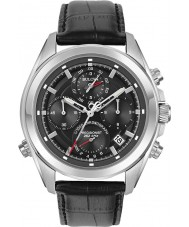 Bulova 96B259 Mens Precisionist Black Leather Strap Chronograph Watch