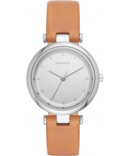 Skagen SKW2455 Ladies Tanja Light Brown Leather Strap Watch