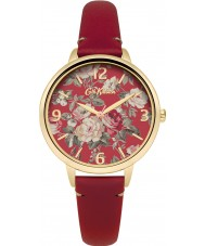 Cath Kidston CKL001RG Ladies Garden Rose Red Leather Strap Watch