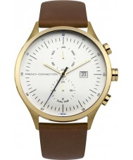 French Connection FC1266TG Mens Bronze Leather Strap Watch