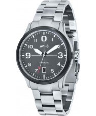 AVI-8 AV-4021-12 Mens Flyboy Automatic Silver Steel Bracelet Watch