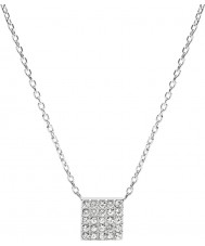 Fossil JF02262040 Ladies Vintage Glitz Silver Steel Necklace