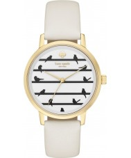 Kate Spade New York KSW1043 Ladies Metro White Leather Strap Watch
