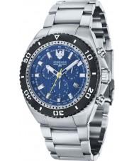 Swiss Eagle SE-9072-22 Men Carrier 316L Marine Grade Silver Steel Chronograph Watch