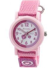 Tikkers TK0112 Girls Pink Nylon Strap Watch