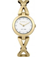 Fiorelli FO003GM Ladies Gold Plated Cross Over Bangle Watch