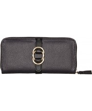Nica NS9509-BLACK Ladies Sylvie Black Zip Around Purse