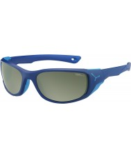 Cebe Jorasses Medium Matt Dark Blue Variochrom Peak Flash Mirror Sunglasses