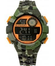 Superdry SYG193NO Mens Radar Camo Green Silicone Strap Watch