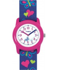 Timex T89001 Kids Butterflies Hearts Elastic Fabric Strap Watch