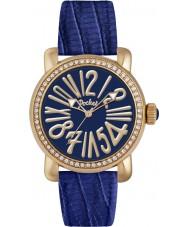 Pocket PK2022 Ladies Rond Crystal Medio Blue Watch