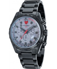Swiss Eagle SE-9062-66 Mens Engineer Black Chronograph Watch