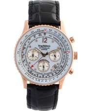 Krug-Baumen 400702DS Air Traveller White Dial Black Leather Strap