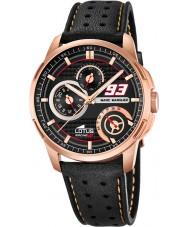Lotus 18242-2 Mens Marc Marquez Black Leather Strap Watch