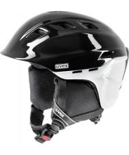Uvex 5661572103 Comanche 2 Pure Black and White Ski Helmet - 51-55cm