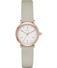 DKNY NY2514 Ladies Minetta Grey Leather Strap Watch