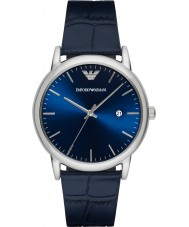 Emporio Armani AR2501 Mens Classic Blue Leather Strap Watch