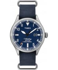 Timex TW2P64500 Mens Heritage Blue Leather Strap Waterbury Watch
