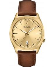 Bulova 97B132 Mens BA II Brown Leather Strap Watch