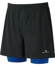 "Ronhill Mens Stride Twin 5"" Shorts"