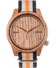 WeWOOD TORPEDONUTORANGE Torpedo Two TOne Canvas Strap Watch