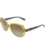 Michael Kors MK6017 58 Glam Glossy Brown Tortoiseshell 3051T5 Polarized Sunglasses