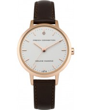 French Connection FC1279TRG Ladies Brown Leather Strap Watch