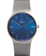 Obaku V178GXCLMC Mens Silver Steel Mesh Bracelet Watch