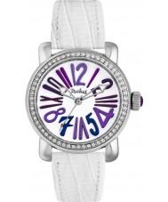 Pocket PK2025 Ladies Rond Crystal Medio White Watch