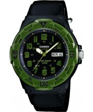 Casio MRW-200HB-1BVEF Collection Green Cloth Strap Sports Watch